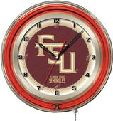 "Holland Florida State ""Script"" Neon 19"" Clock"