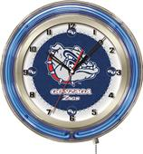 "Holland Gonzaga Zags Neon 19"" Clock"