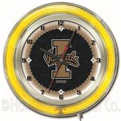 "Holland University of Idaho Neon 19"" Clock"