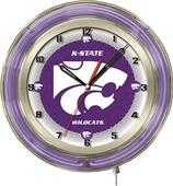 "Holland Kansas State University Neon 19"" Clock"