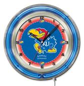 "Holland University of Kansas Neon 19"" Clock"