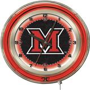 "Holland Miami University (OH) Neon 19"" Clock"