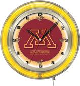 "Holland University of Minnesota Neon 19"" Clock"