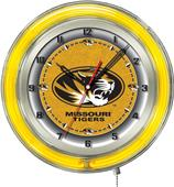 "Holland University of Missouri Neon 19"" Clock"