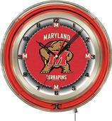 "Holland University of Maryland Neon 19"" Clock"