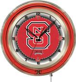 "North Carolina State University Neon 19"" Clock"