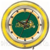 "North Dakota State University Neon 19"" Clock"