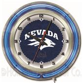 "Holland University of Nevada Neon 19"" Clock"