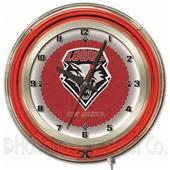 "Holland University of New Mexico Neon 19"" Clock"