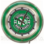 "University of North Dakota (Hockey) Neon 19"" Clock"