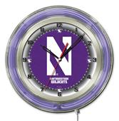 "Holland Northwestern University Neon 19"" Clock"