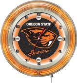 "Holland Oregon State University Neon 19"" Clock"