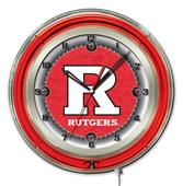 "Holland Rutgers NCAA Neon 19"" Clock"
