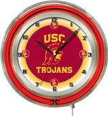 "University of Southern California Neon 19"" Clock"