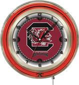 "University of South Carolina Neon 19"" Clock"