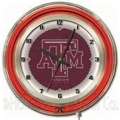 "Holland Texas A&M NCAA Neon 19"" Clock"