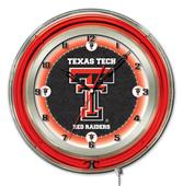 "Holland Texas Tech University Neon 19"" Clock"