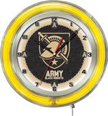 "Holland US Military Academy Neon 19"" Clock"