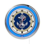 "Holland US Naval Academy Neon 19"" Clock"