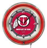 "Holland University of Utah Neon 19"" Clock"
