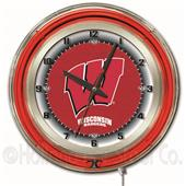 "Holland University of Wisconsin ""W"" Neon 19"" Clock"