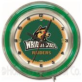 "Holland Wright State University Neon 19"" Clock"
