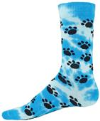 Red Lion Tie Dye Paws Crew Socks