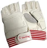 Adams Football Lineman 1/2 Finger Gloves-Closeout