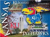 Holland University of Kansas Printed Canvas Art