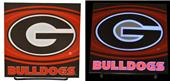 Illumasport Univ of Georgia Light Up Car Sticker