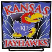 Illumasport Univ of Kansas Light Up Car Sticker