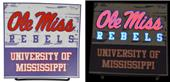 Illumasport Univ Mississippi Light Up Car Sticker