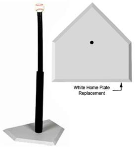 WHITE HOME PLATE REPLACEMENT