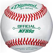 Diamond D1-NFHS Official Raised Seam Baseballs