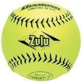 """Diamond Zulu Black Stitch NSA 12"""" 11"""" Softballs"""