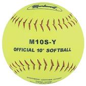 "Markwort Yellow 10"" Synthetic Cover Softballs"