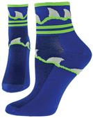 Red Lion Zany Great White Performance Crew Socks