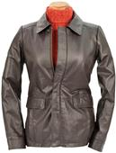 Burk's Bay Ladies' Leather Hipster Field Jacket