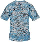 Badger B-Core Digital Camo Placket Baseball Shirt