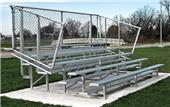 NRS 5 Row Non-Elevated Galvanized Bleachers