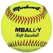 """Markwort 9"""" Yellow Safety Light Baseballs-Youth"""