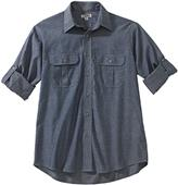 Edwards Mens Chambray Roll-Up Long Sleeve Shirt