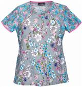 Runway Women's Spring Forward Round Neck Scrub Top
