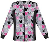 Tooniforms Women's Mickey Warm-Up Scrub Jacket