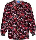 Scrub HQ Breast Cancer Caring/Cause Scrub Jacket