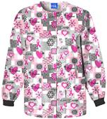 Scrub HQ Breast Cancer Words of Love Scrub Jacket