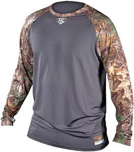44071c7a Louisville Slugger Compression Raglan Camo Shirt - Baseball ...