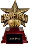"Hasty Awards 6"" All Star Resin Basketball Trophy"