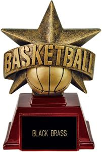 """Hasty Awards 6"""" All Star Resin Basketball Trophy"""