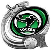 """Hasty 3"""" Action Medal Spectrum Soccer Insert"""